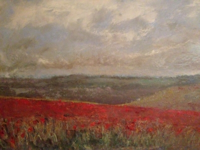 Poppies from Firle Beacon